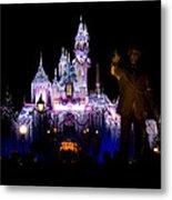 Disneyland Christmas Castle Metal Print