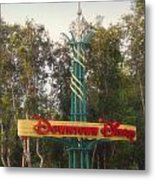 Disneyland Downtown Disney Signage 01 Metal Print