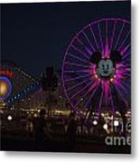 Disneyland Ferris Wheel At Dark Metal Print