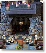 Disneyland Grand Californian Hotel Fireplace 01 Metal Print