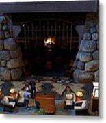 Disneyland Grand Californian Hotel Fireplace 02 Metal Print