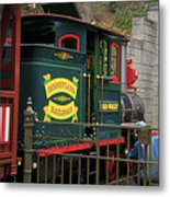 Disneyland Rr Oiling Green Engine 3 Metal Print