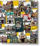 Disneyland Toontown Yellow Collage Metal Print