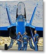 Display Debrief- Blue Angels Metal Print