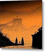 Distant Bridge Metal Print