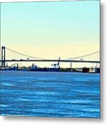 Distant Bridges Metal Print