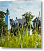 Distant Light House Metal Print