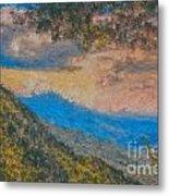 Distant Mountains - Digital Impression Paint Metal Print