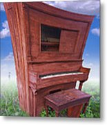Distorted Upright Piano Metal Print