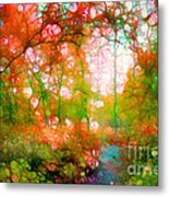 Distortions Of Autumn Metal Print