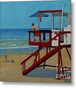Distracted Lifeguard Metal Print