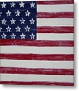 Distressed American Flag Metal Print