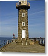 Disused East Pier Lighthouse - Whitby Metal Print