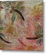 Rustic Dragonflies Pinks Metal Print