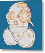 Diving Helmet Mark V Metal Print
