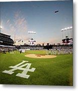 Division Series - New York Mets V Los Metal Print