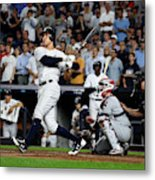 Divisional Round - Cleveland Indians v New York Yankees - Game Four Metal Print
