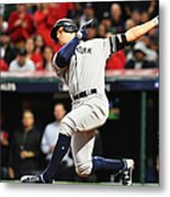 Divisional Round - New York Yankees v Cleveland Indians - Game Five Metal Print