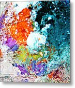 Djinn Blows ... Dove Floating In The Wind Metal Print