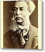 Dmitri I Vasilevich Grigorovich, Head-and-shoulders Portrait Metal Print