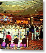Do You Come Here Often ? Casino Slot Machine Pick Up Lines As You Gamble Your Life Savings Away Metal Print