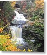 Doanes Falls Fall Foliage Metal Print