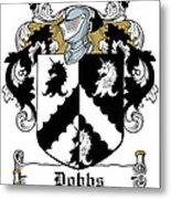 Dobbs Coat Of Arms Irish Metal Print