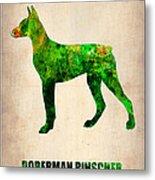 Doberman Pinscher Poster Metal Print