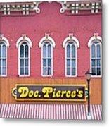 Doc Pierces Restaurant And Saloon Building Detail Metal Print