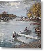 Dock At The Bay North Tonawanda Metal Print