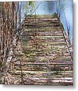 Dock In The Glades Metal Print