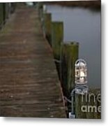 Dock Light Metal Print