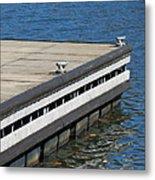 Dock On The Lake Metal Print