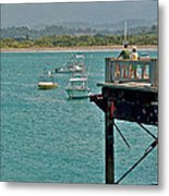 Dock Overlooking Quepos Bay-costa Rica Metal Print