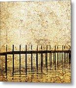 Dock Metal Print by Skip Nall