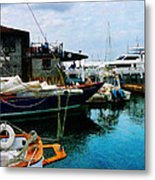Docked Boats In Newport Ri Metal Print