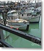 Docked Boats Metal Print