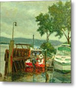 Docked Boats Metal Print