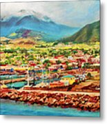 Docked In St. Kitts Metal Print
