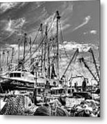 Docked Shrimper Metal Print
