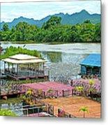 Docking Area On River Kwai In Kanchanaburi-thailand Metal Print