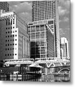 Docklands London Mono Metal Print