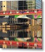 Docklands Railway London Metal Print