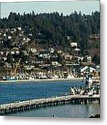 Docks Of Yaquina Bay Metal Print