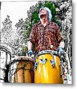 Doctor Drum Metal Print