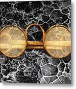 Doctor - Optometrist - Glasses Sold Here  Metal Print
