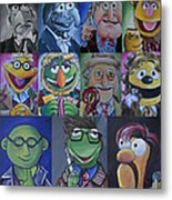 Doctor Who Muppet Mash-up Metal Print