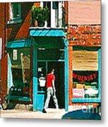 Documenting Vintage Montreal Depanneur Deli Wilensky Montreal Restaurant Paintings Cspandau  Art Metal Print