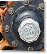 Dodge Brothers Hubcap And Spokes Metal Print