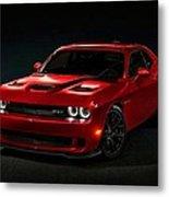 Dodge Challenger S R T Hellcat Metal Print